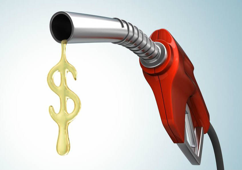 Gasoline Pump With Liquid Drop Shaped as Dollar Sign