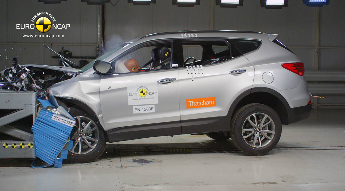 Hyundai santa fe safer than mercedes benz m class and for Mercedes benz of santa fe