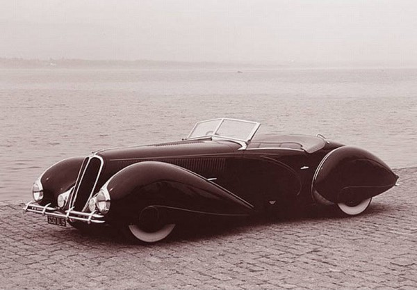 1938 Delahaye Type 135M better aerodynamics