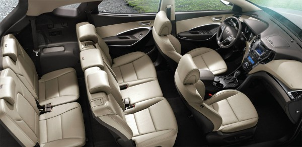 2013 hyundai santa fe interior 3rd row seats