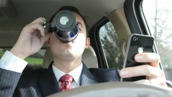 coffe while driving