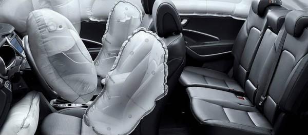 hyundai santa fe 2013 airbags