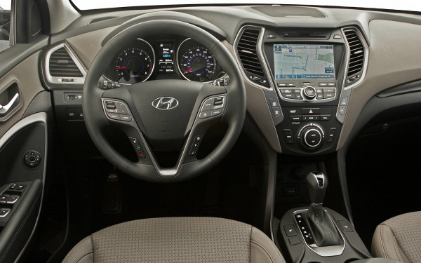 hyundai santa fe 2013 interior Portable Navigation Systems
