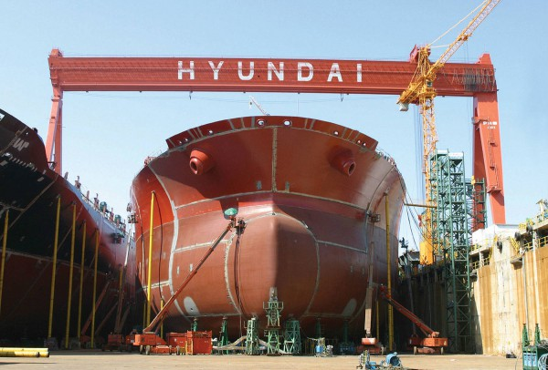 hyundai ship building asembly