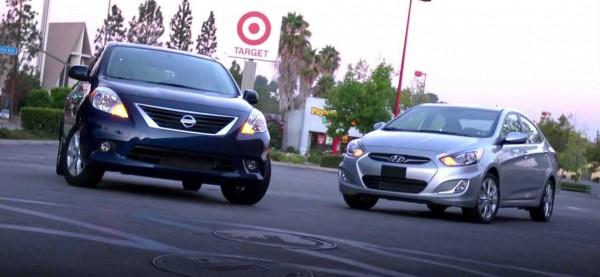 2012 hyundai accent vs 2012 Nissan Versa