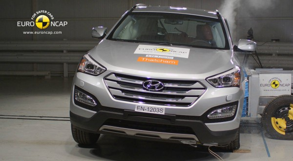 hyundai santa fe euro ncap crush test airbags
