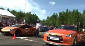 2000HP Lamborghini Gallardo UGR vs 1200hp NISSAN GT-R 1