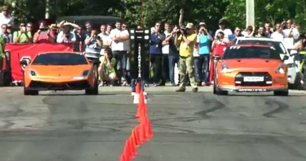 2000HP Lamborghini Gallardo UGR vs 1200hp NISSAN GT-R 2