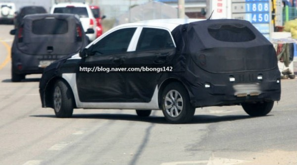 2014 hyundai i20 spy photos shoots 3