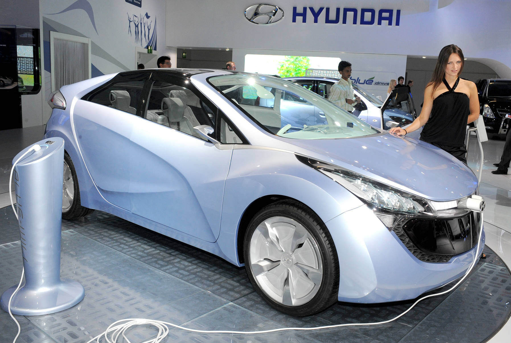 Hyundai Concept Blue Electric Car Usa