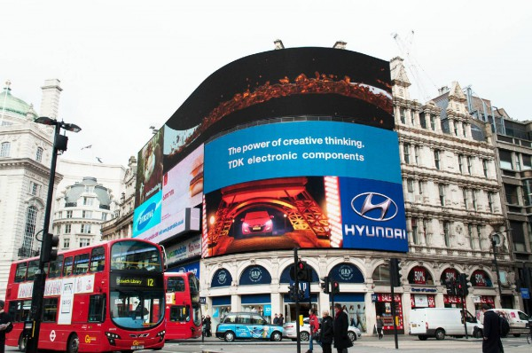 Hyundai Piccadilly Circus screen