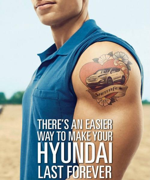 Hyundai santa fe tatoo