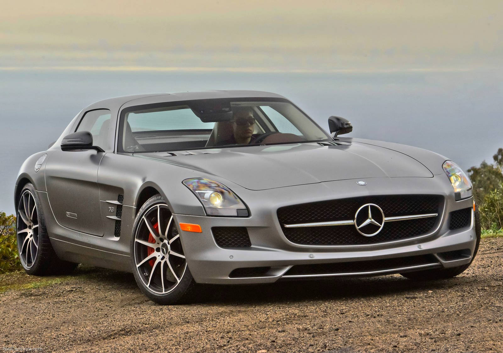 Mercedes Sls Amg Gt Coupe Matte Silver Bullet Video Muscle