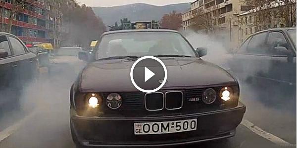 BMW M5 Drifting Giorgi Tevzadze