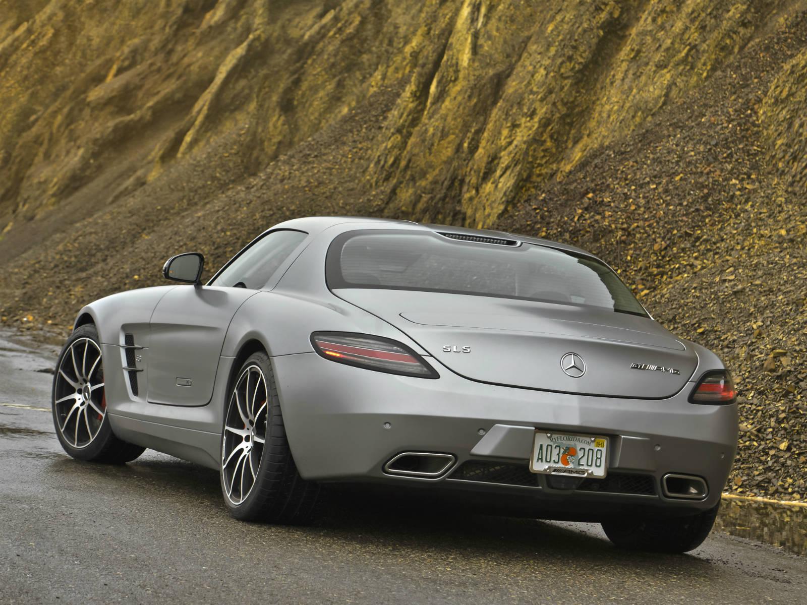 Mercedes sls amg gt coupe matte silver bullet video muscle cars zone - Mercedes sls amg gt coupe ...