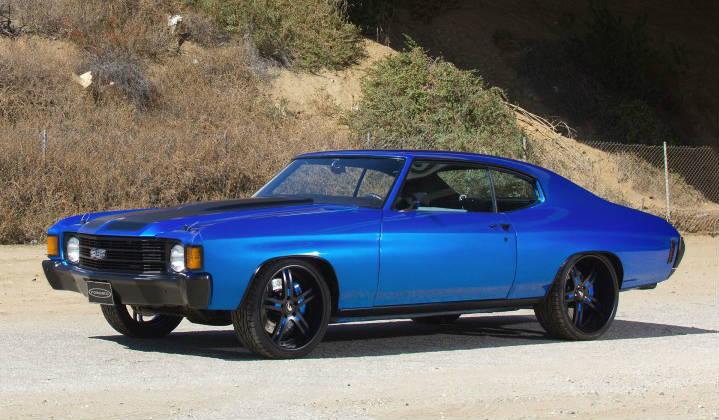 1972 Chevy Chevelle Blue on Chevrolet Engine Scheme
