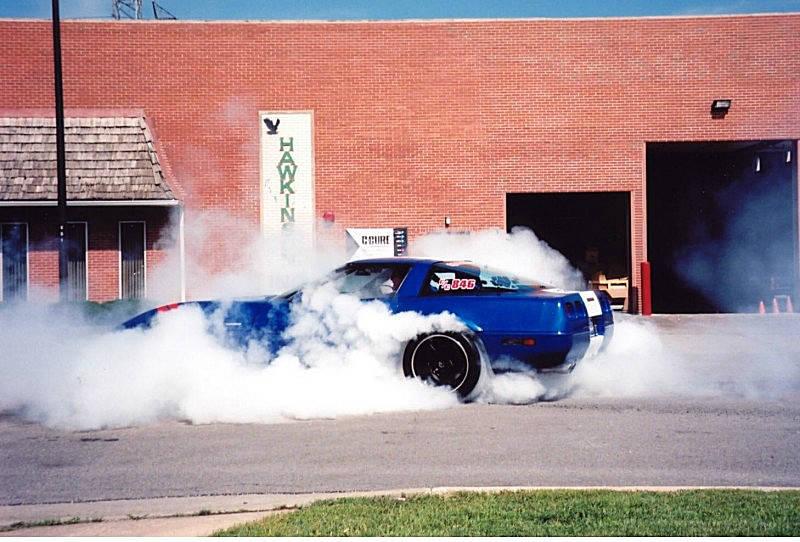 Corvette Doing A Burnout Muscle Cars Zone