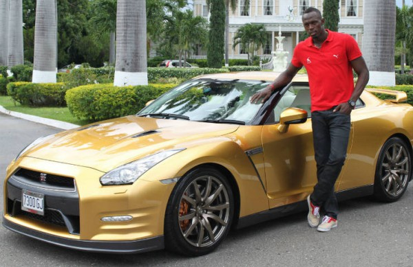 2014 Gold Nissan GT-R for Usain Bolt