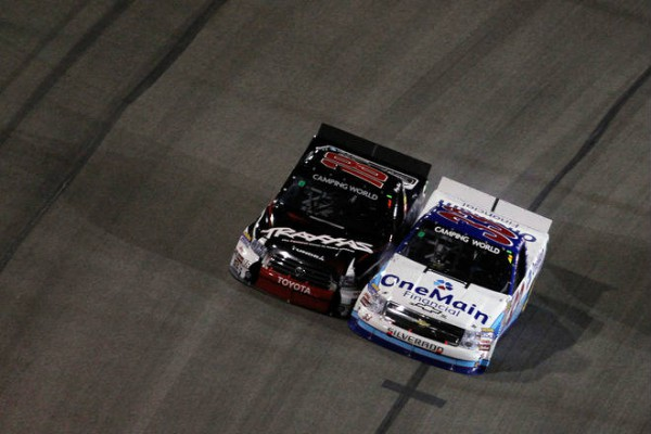 Kyle Buschfter vs Ron Hornaday NASCAR