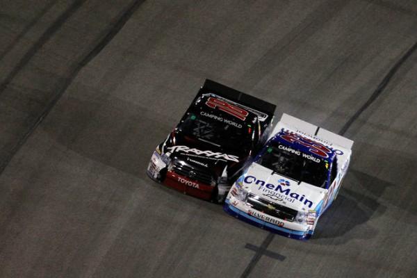 Kyle Buschfter vs Ron Hornaday NASCAR
