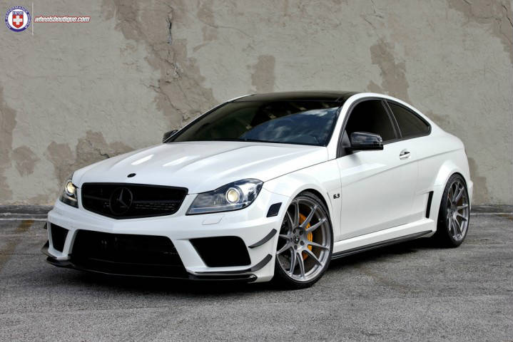 Mercedes benz c63 amg black series on rims by hre for Mercedes benz amg c63 black series