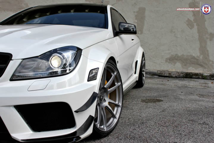 Mercedes-Benz C63 AMG Black Series on Rims by HRE! Must See!