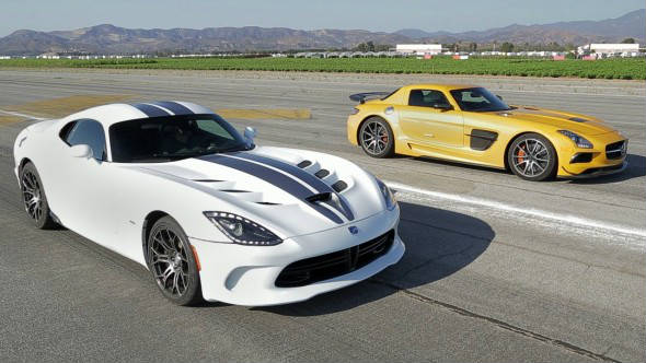 SRT Viper vs Mercedes SLS AMG Black Series 3