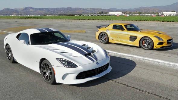 SRT Viper vs Mercedes SLS AMG Black Series 3