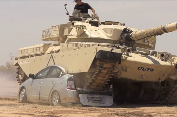 Tank-Running-Over-Prius