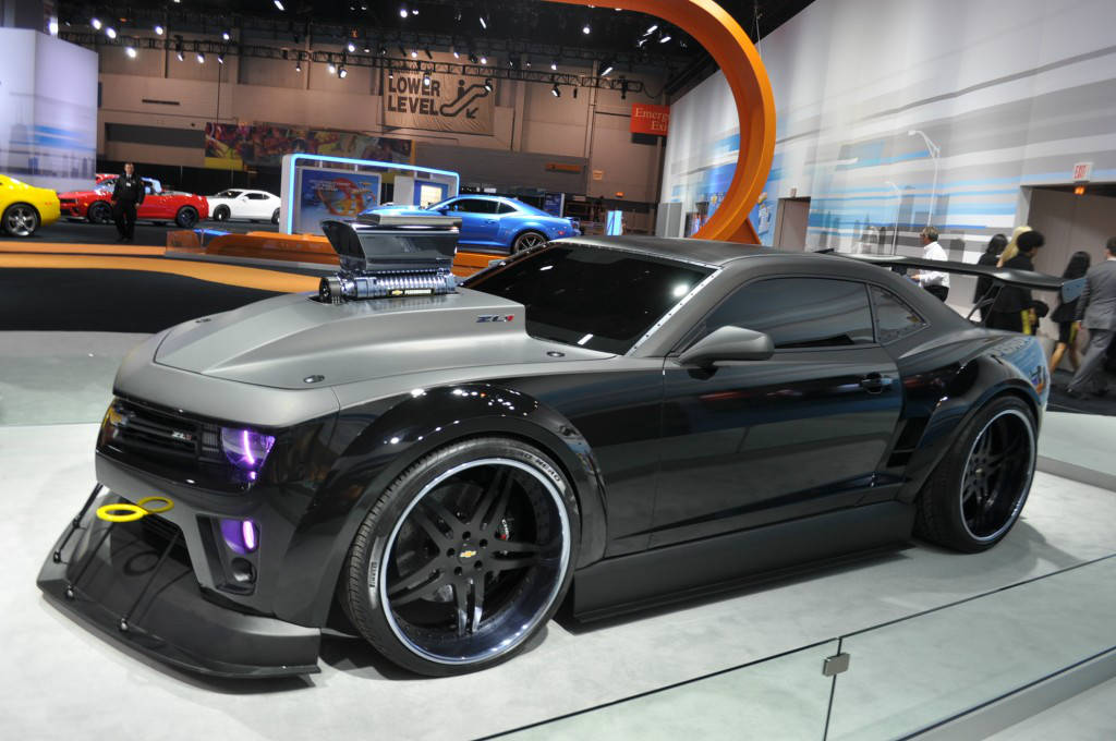 chevy camaro with monster truck wheels