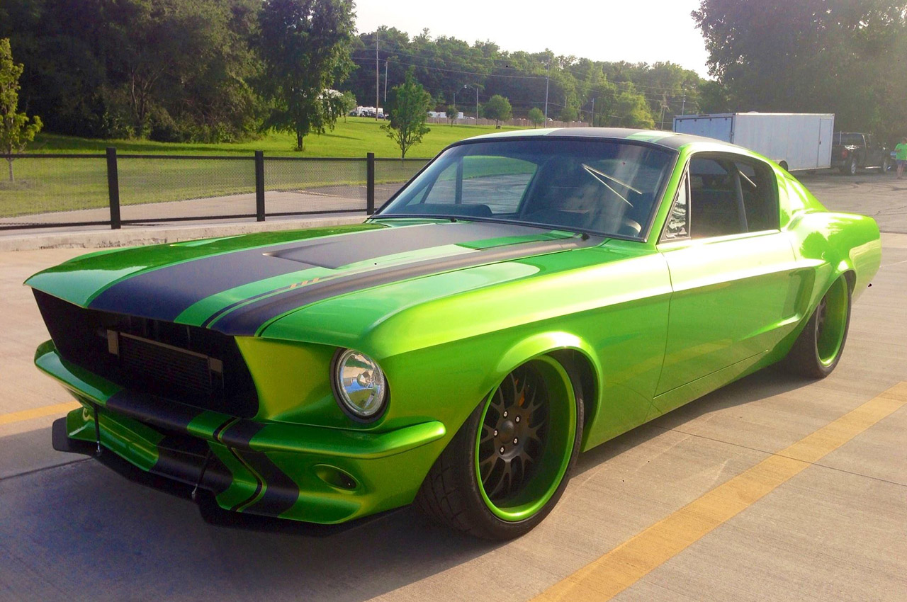 1967 ford mustang restomod green mean supercharged machine - 1967 Ford Mustang Coupe Green