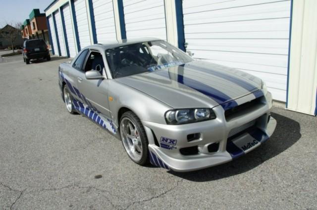 R34 Gtr For Sale >> 2 Fast 2 Furious 1999 Nissan Skyline Gtr Sold For 75 000