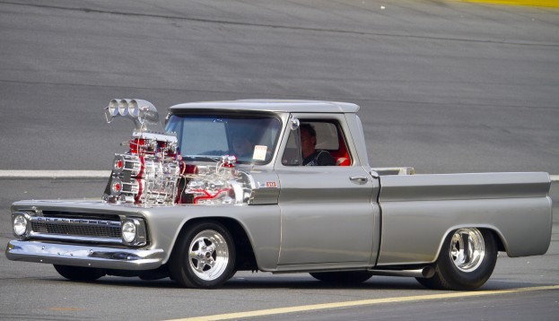 Trucks With Blowers : Check out this chevy pickup twin supercharged