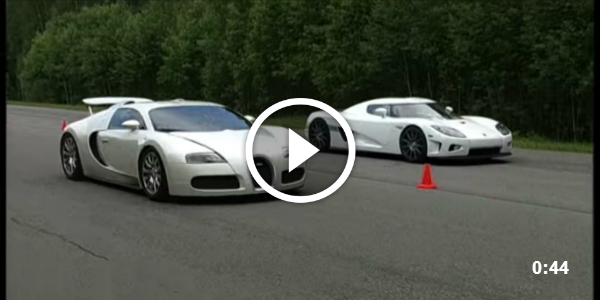Bugatti Veyron vs Koenigsegg CCXF - Epic Race of The Titans Koenigsegg CCXF