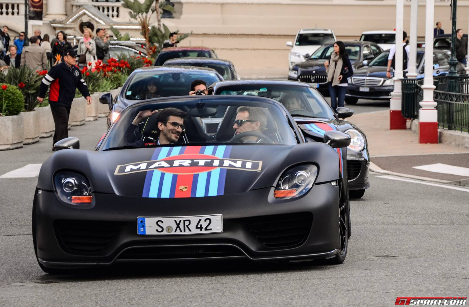 six porsche 918 spyders on the streets of monaco muscle