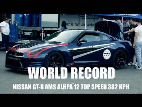 nissan gt r ams top speed world record 382 kph 237 5 mph. Black Bedroom Furniture Sets. Home Design Ideas