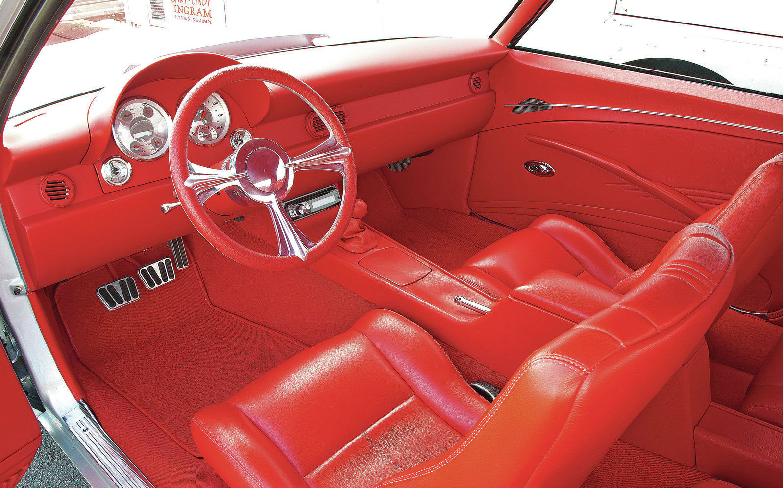 Chevy Camaro Red Interior View