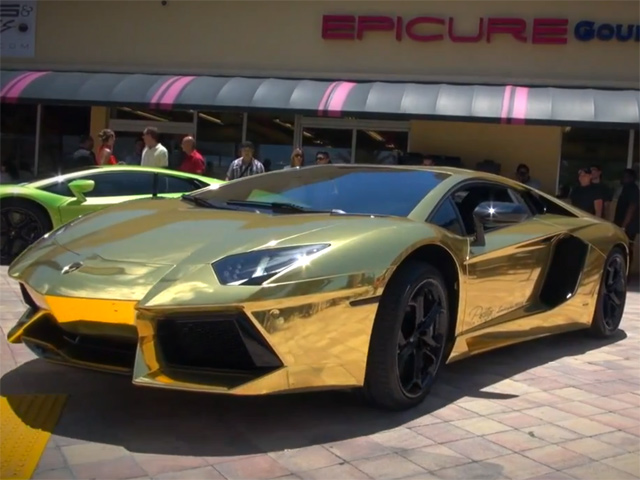 First Gold Plated Lamborghini Aventador LP700,4 in the World!