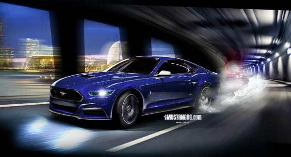 2015 Mustang GT Render (Blue) - Mustang6G