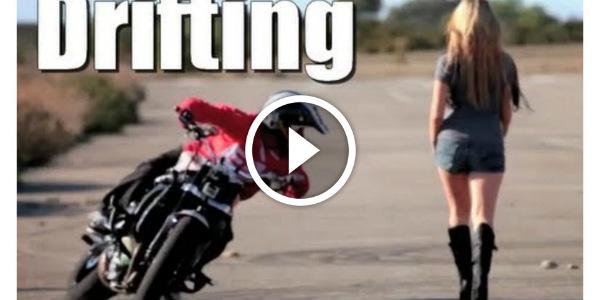 Motorcycle DRIFTING GYMKHANA Jorian Ponomareff