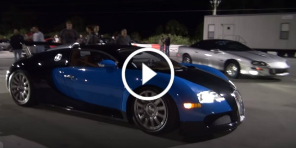 Finally A Bugatti Veyron Drag Race Veyron Races A Nissan