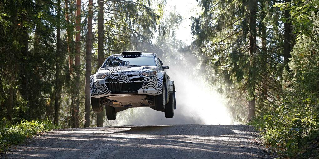 Hyundai i20 WRC testing