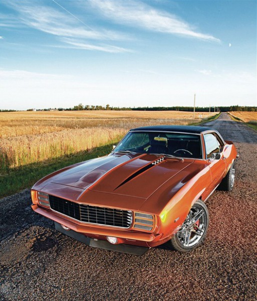 1969 chevy camaro orange 2