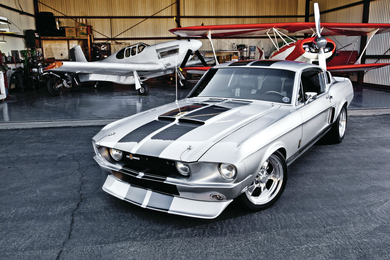 1968 ford mustang fastback front view