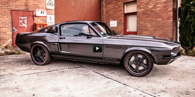 500hp 1967 ford mustang gt500 shelby clone gun metal grey muscle cars zone