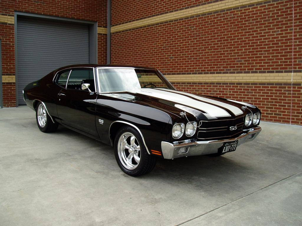 1970 Chevrolet Chevelle Ss Classic Black Muscle Car