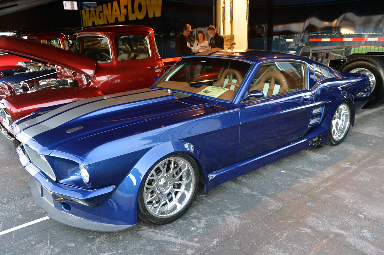 sema 2013  1967 ford mustang fastback by tci engineering