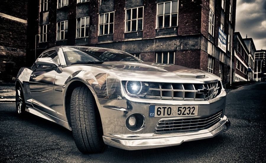 Exotic Motor Cycle Chrome Chevrolet Camaro By Tintek Muscle Cars