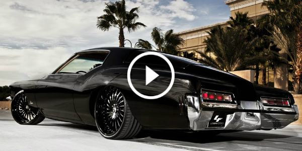 Beautiful Black Bagged and Slammed 1972 Buick Riviera 21 1972 Classic Buick Riviera