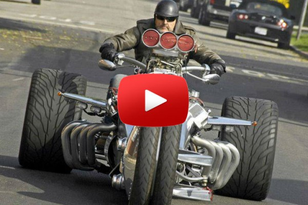 Craziest Motorcycle Trike Hot Rod Street Legal